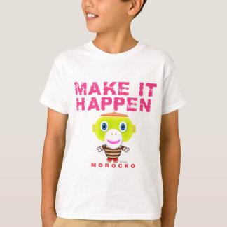 Maak tot het gebeuren-Leuke aap-Morocko T Shirt