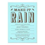 Maak tot het Regen de Blauwe Uitnodigingen van het