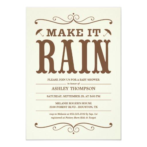 """""""Maak tot het Regen"""" de Vintage Uitnodigingen van"""