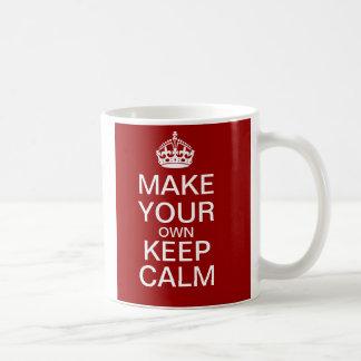 Maak tot Uw Eigen Levensonderhoud Kalme volledig Koffiemok
