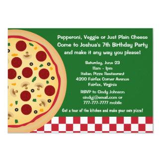 Maak tot Uw Eigen Pizza de Kinder Partij van de Kaart