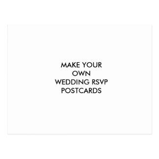Maak Uw Eigen Briefkaart van het Huwelijk RSVP