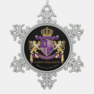 Maak Uw Eigen Embleem van de Kroon van het Tin Sneeuwvlok Ornament