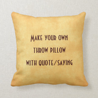 Maak uw eigen hoofdkussen met citaat of spreuk sierkussen