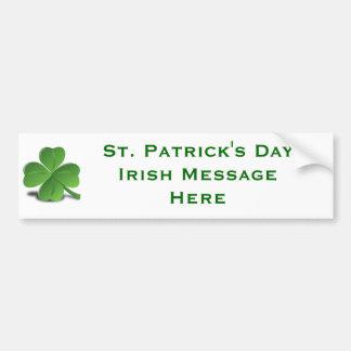Maak Uw Eigen Ierse St. Patrick Dag van DIY Creëer Bumpersticker