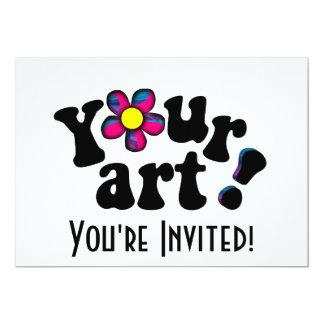 Maak uw Eigen Kunstwerk of Foto van de Douane 12,7x17,8 Uitnodiging Kaart