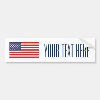 Maak uw eigen patriottische de bumpersticker van