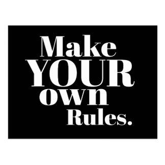 Maak Uw Eigen Regels Motivatie Briefkaart