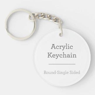 Maak Uw Eigen Ronde Keychain 1-Zijde Rond Acryl Sleutelhanger