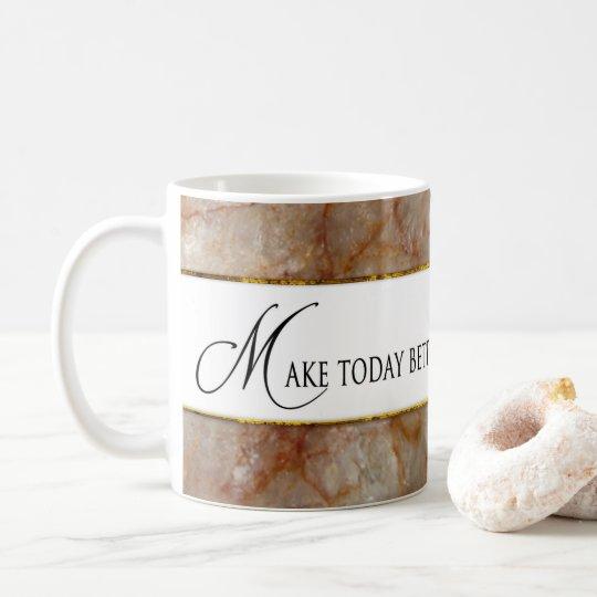 Maak vandaag beter dan gisteren overvallen - koffiemok