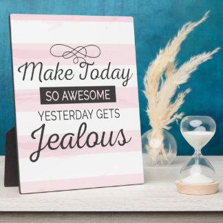 Maak vandaag geweldige motivatie citaat fotoplaat