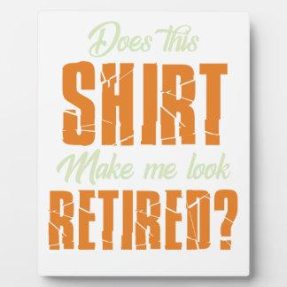 Maakt Dit Overhemd me Blik Teruggetrokken Grappig Fotoplaat