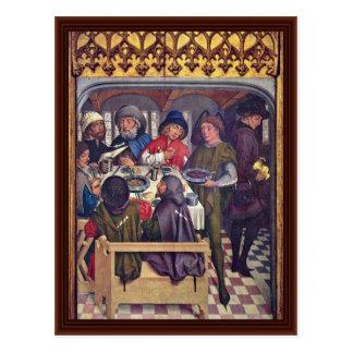 Maaltijd van de Bedevaart Compostela Briefkaart