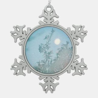 Maan 2 van de winter tin sneeuwvlok ornament
