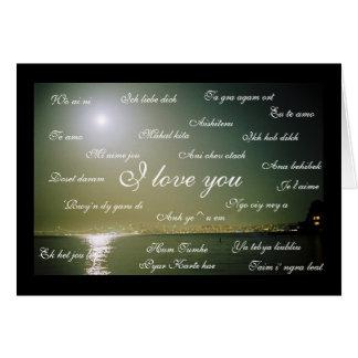 """Maan; De """"liefde van I u"""" (23 talen) Briefkaarten 0"""