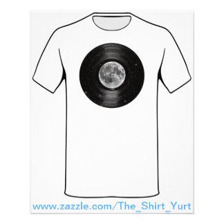 Maan in het Ruimte VinylVerslag van LP Flyer 11,4 X 14,2 Cm