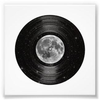 Maan in het Ruimte VinylVerslag van LP Foto Afdruk