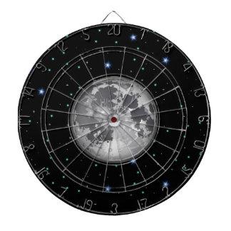 Maan in Sterrig RuimteDartboard Dartbord