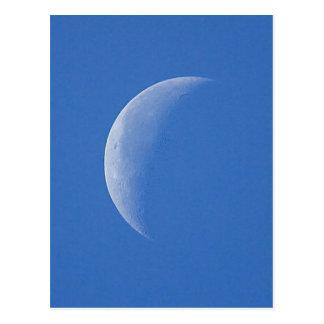 Maan op Blauwe Hemel Briefkaart