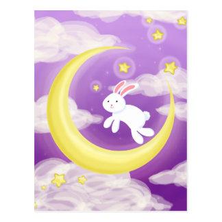 Maan Paarse Buny Briefkaart
