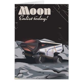 """Maan - """"werf"""" vandaag het poster van het Sci Fi Briefkaarten 0"""