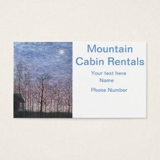 Maanbeschenen Cabine in de Winter Visitekaartjes