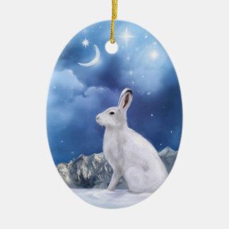 Maanbeschenen schildwachtOrnament Keramisch Ovaal Ornament