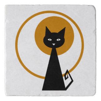 Maanbeschenen Zwarte Kat Trivet
