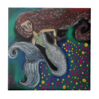 Maandag Mermaid. Keramisch Tegeltje