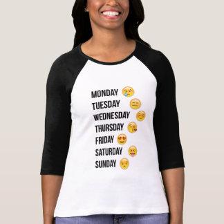 Maandag-zondag emoji t shirt
