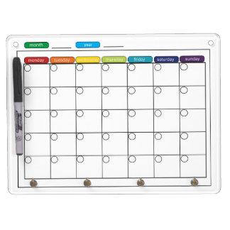 Maandelijkse Kalender Whiteboard