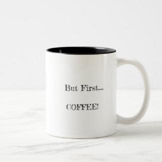 Maar eerst… Koffie Tweekleurige Koffiemok