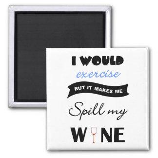 Maar wijn vierkante magneet zou zou uit:oefenen