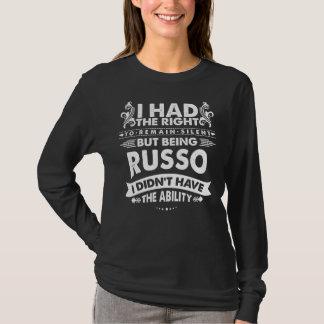 Maar Zijnd RUSSO had ik geen Capaciteit T Shirt