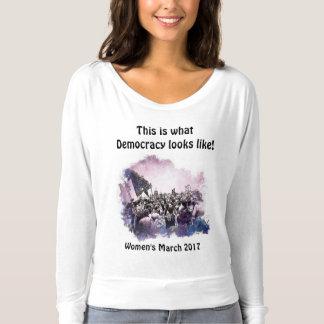 Maart van vrouwen dit is wat de Democratie als Longsleeve