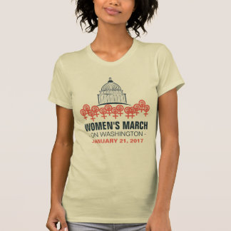 Maart van vrouwen op de Solidariteit van T Shirt