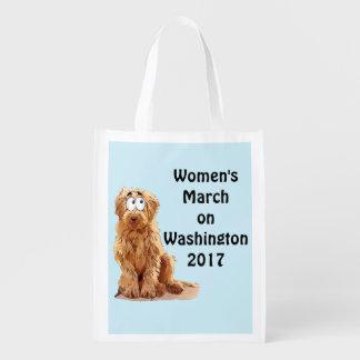 Maart van vrouwen op Washington 2017 Herbruikbare Boodschappentas