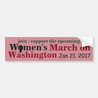 Maart van vrouwen op Washington Bumpersticker