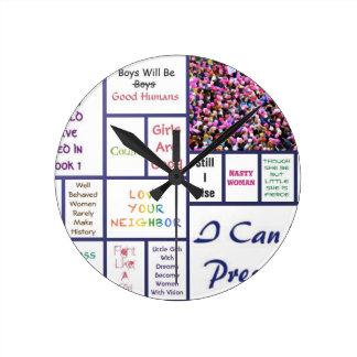 Maart van vrouwen ronde klok
