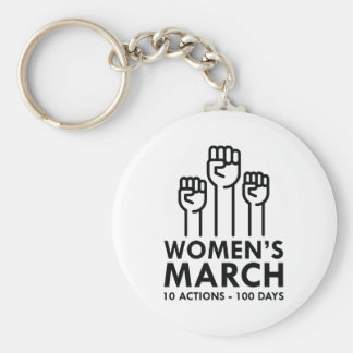 Maart van vrouwen sleutelhanger