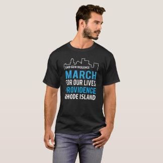 Maart voor Onze Voorzienigheid Rhode Island van T Shirt