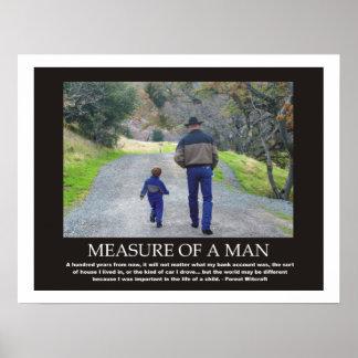 Maatregel van een Inspirerend Citaat van het Man Poster