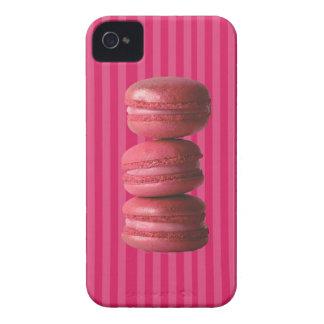 Macarons op Franse Strepen iPhone 4 Hoesje