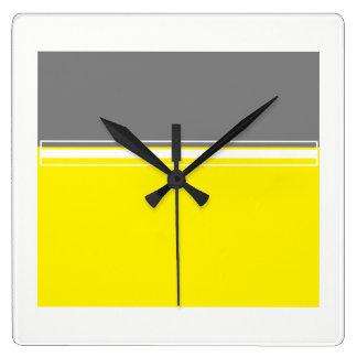 Macht van de gele en grijze Vierkante Klok van de