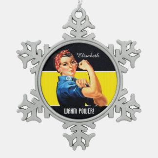 Macht WAHM! - Het Mamma van het werk thuis Tin Sneeuwvlok Ornament