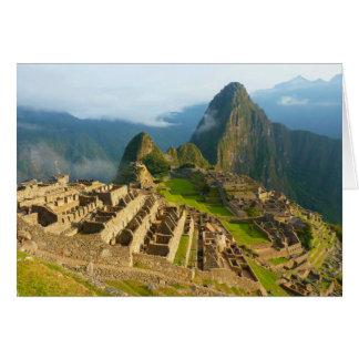 Machu Picchu, de Lege Kaart van Peru