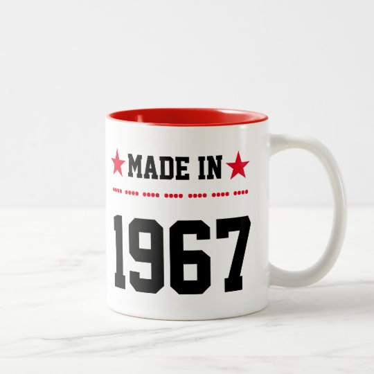 Made in 1967 tweekleurige koffiemok