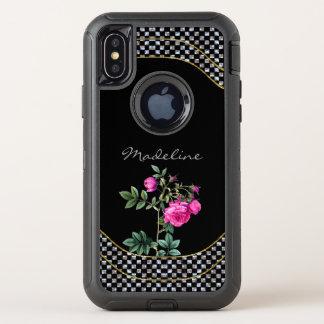 Madelines nam Beschermend Mooie Koel Monogram toe OtterBox Defender iPhone X Hoesje