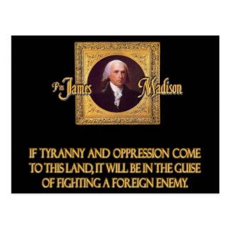 Madison op Buitenlandse Vijanden Briefkaart