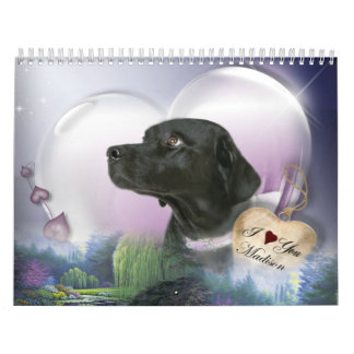 Madison Zwart Labrador Kalender